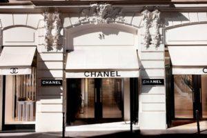Façade de Chanel, 31 rue Cambon, à Paris (75)