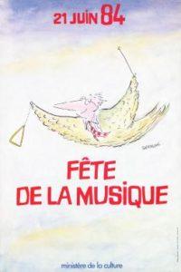 Affiche Fête de la musique 1984
