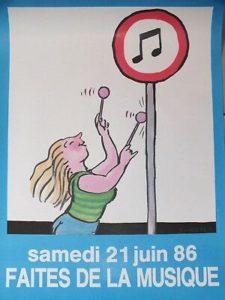Affiche Faites de la musique 1986