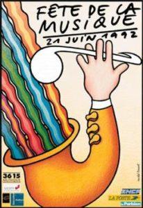 Affiche Fête de la musique 1992