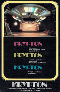 """Affiche boîte de nuit aixoise """"Le Krypton"""""""