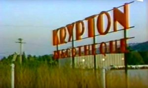"""L'enseigne de la boîte de nuit aixoise """"le Krypton"""""""