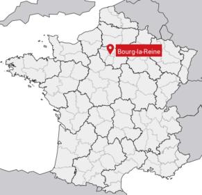 Carte de situation de la ville de Bourg-la-Reine (92)