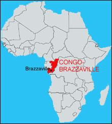 Carte du Congo-Brazzaville