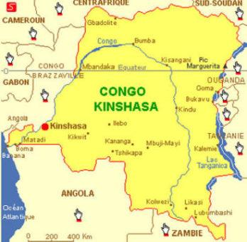 Carte du Congo-Kinshasa