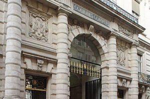 Façade de la Cour des comptes, 13 rue Cambon, à Paris (75)