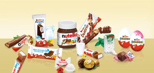 Gamme de produits Ferrero