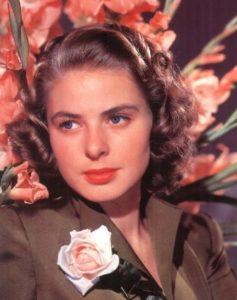 L'actrice suédoise Ingrid Bergman