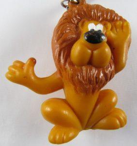 Lion porte-clé, mascotte de la banque française Crédit Lyonnais