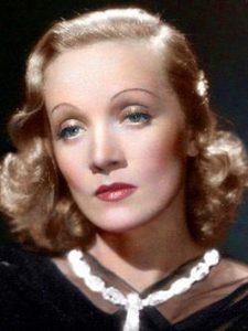 L'actrice allemande Marlene Dietrich