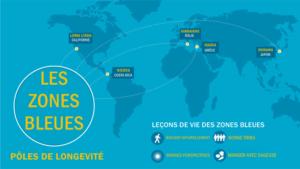 Les zones bleues dans le monde (pôles de longévité)