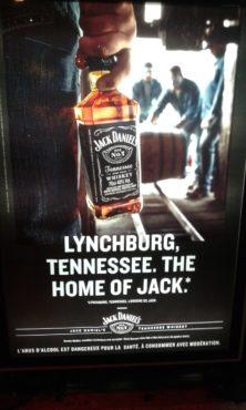 """Affiche publicitaire française """"Lynchburg, Tennessee. The home of Jack"""" pour le whiskey Jack Daniels d'octobre 2019"""