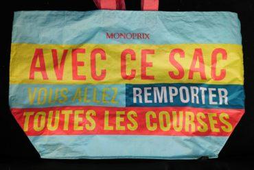 """Sac réutilisable Monoprix """"Avec ce sac vous allez remporter toutes vos courses"""""""