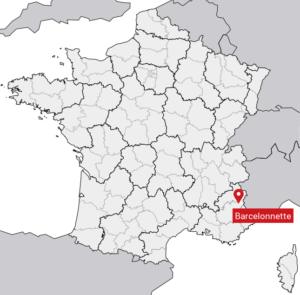 Carte de situation de la ville de Barcelonnette (04)