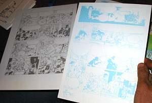 un bleu de coloriage de bande dessinée