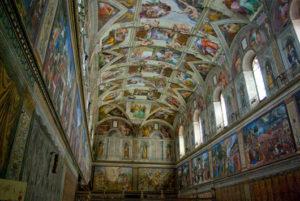 Fresque du plafond de la chapelle Sixtine par Michel-Ange