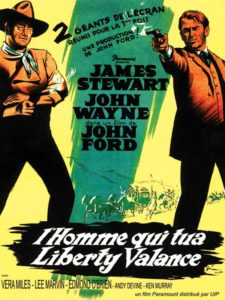 "Affiche de ""L'homme qui tua Liberty Valance"" de John Ford (1962)"