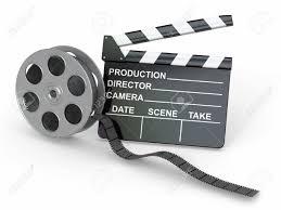 Bobine de film et clap de cinéma