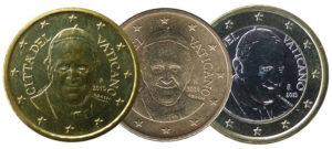 Pièces vaticanes en euros