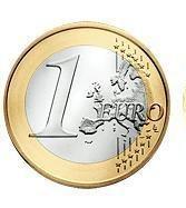 Côté pile dune pièce de un euro