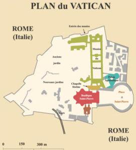Plan de la cité du Vatican