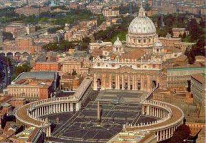 Basilique Saint-Pierre de Rome et la place Saint-Pierre
