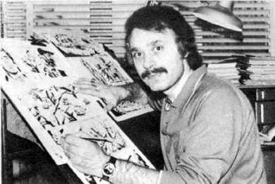 Le dessinateur de bande dessinée italien Raffaele Carlo Marcello dit Marcello