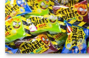 "Bonbons ""Têtes brûlées""."