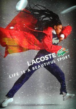 Affiche française Lacoste de décembre 2019