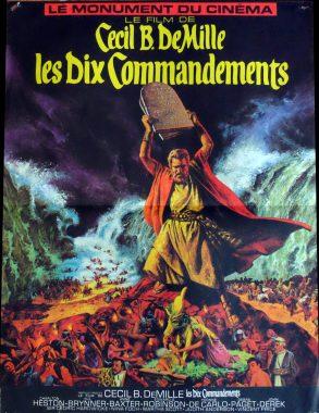"""Affiche du film """"Les dix commandements"""""""