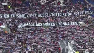 Calicots dans les tribunes du stade de l'Olympique Lyonnais