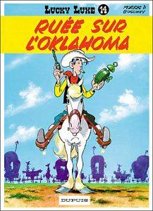 """""""Ruée sur l'Oklahoma"""", quatorzième album de Lucky-Luke, paru en 1960"""