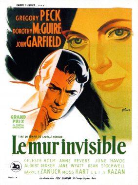"""Affiche du film """"Le mur invisible"""" dans lequel apparaît la notion de """"plafond de verre"""""""