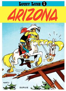 "Couverture de l'album de Lucky Luke ""Arizona""."