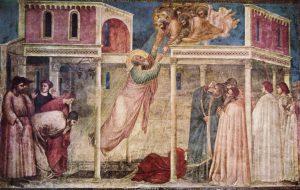 L'ascension de saint Jean l'évangéliste par Giotto (1320)