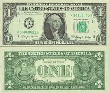 Billet d'un dollar américain