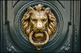 Heurtoir mufle de lion