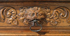 Poignée de tiroir mufle de lion