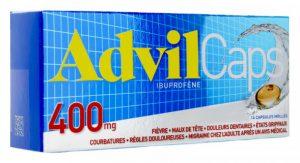 Boîte d'Advil Caps 400mg du Laboratoire Pfizer