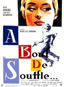 """Affiche du film français """"À bout de souffle"""" de Jean-Luc Godard (1960)"""