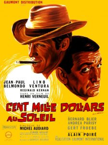 """Affiche du film français """"Cent mille dollars au soleil"""" de Henri Verneuil (1964)"""