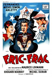 """Affiche du film français de 1939 de Maurice Lehmann et Claude Autant-Lara """"Fric-Frac"""""""