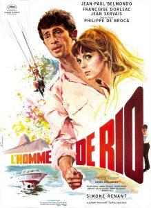 """Affiche du film français """"L'homme de Rio"""" de Philippe de Broca (1964)"""