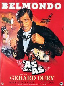 """Affiche du film français """"L'as des as"""" de Gérard Oury (1982)"""