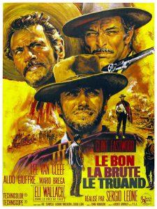 """Affiche du film italien """"Le bon, la brute et le truand"""" (1966) de Sergio Leone"""