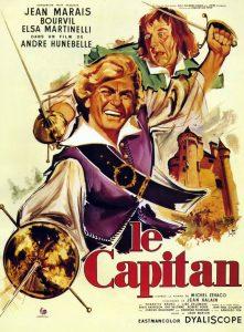 """Affiche du film français """"Le capitan"""" (1960) d'André Hunebelle"""
