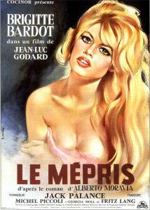 """Affiche du film français """"Le mépris"""" de Jean-Luc Godard (1963)"""