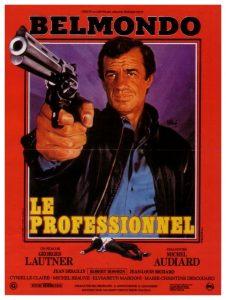 """Affiche du film français """"Le profesionnel"""" de Georges Lautner (1981)"""