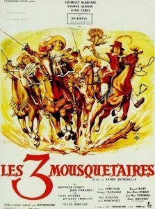 """Affiche du film français """"Les 3 mousquetaires"""" (1953) d'André Hunebelle"""