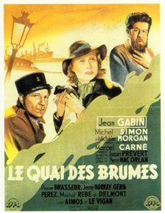 """Affiche du film français """"Le quai des brumes"""" de Marcel Carné (1938)"""